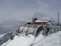Zugspitze - Muenchner Haus Lizenzfreies Stockfoto