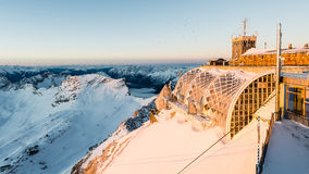Zugspitze - Muenchner Haus Stock Photography