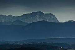 Zugspitze by night Royalty Free Stock Photo