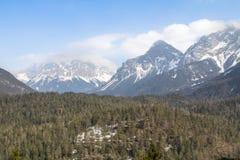 Zugspitze - più alta montagna in Germania Immagini Stock Libere da Diritti