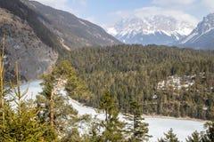 Zugspitze - più alta montagna in Germania Fotografie Stock