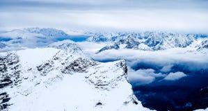 Zugspitze podróży fotografia - Germany's wysoki szczyt Obrazy Royalty Free
