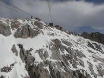 Zugspitze - ropeway Royalty-vrije Stock Afbeeldingen