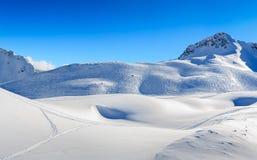 Zugspitze Ski Resort in alpi bavaresi, Germania Immagini Stock Libere da Diritti