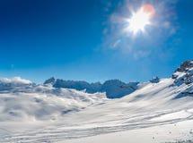 Zugspitze Ski Resort in alpi bavaresi, Germania Fotografia Stock Libera da Diritti