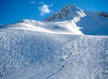 Zugspitze Ski Resort in alpi bavaresi, Germania Immagine Stock Libera da Diritti