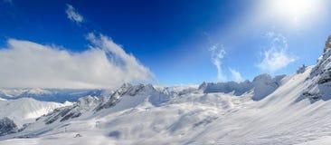 Zugspitze Ski Resort in Bavarian Alps, Germany Stock Photo