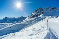 Zugspitze ski resort Royalty Free Stock Photo