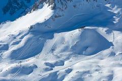 Zugspitze skidar semesterorten Arkivfoto