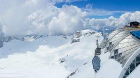 Zugspitze skie góra, Niemcy Obraz Stock