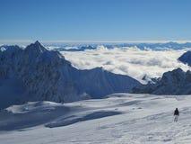 Zugspitze-Spitze von Deutschland lizenzfreies stockfoto