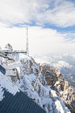 Zugspitze station. Zugspitze mountain station in winter at the highest mountain peak in Germany Stock Photo
