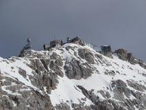 Zugspitze - stazione della sommità del ropeway Fotografie Stock