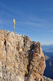 Zugspitze summit Royalty Free Stock Image