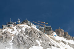 Zugspitze Summit Construction Site, Germany Royalty Free Stock Images
