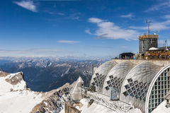 Zugspitze summit. Germany Royalty Free Stock Images