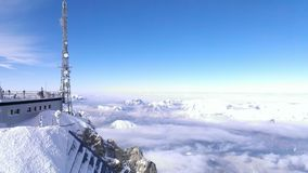 Zugspitze. Sunny winter day on the zugspitze - bavaria Stock Images