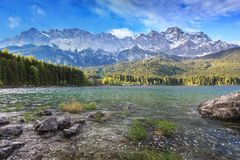 Zugspitze top of Germany Stock Image