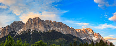 Zugspitze top of Germany Royalty Free Stock Images