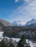 Zugspitze vinterlandskap Royaltyfria Foton
