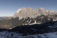 Zugspitze in wintertijd Stock Afbeeldingen