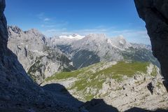 Zugspitze. Mountain in the bavarian alps Royalty Free Stock Photo