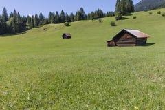 Zugspitzland Alm krajobraz Zdjęcia Royalty Free