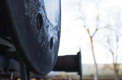 Zugstoßdämpferpuffer Stockbilder