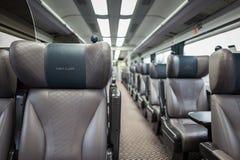 Zugwagen der ersten Klasse Stockbild