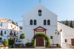 Zuheros kościół, cordoba Zdjęcia Stock