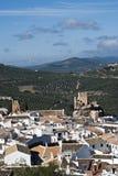 Zuheros view, Cordoba. View of the city of Zuheros Stock Photos