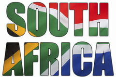 Zuid-Afrika en de Nationale Vlag Royalty-vrije Stock Afbeelding