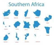 Zuid-Afrika - kaarten van gebieden royalty-vrije illustratie