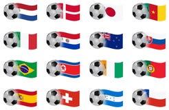 Zuid-Afrika met een waarde van groep E van kop de vectorvlaggen aan H Stock Afbeelding
