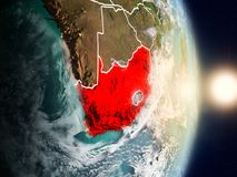 Zuid-Afrika tijdens zonsopgang Stock Fotografie