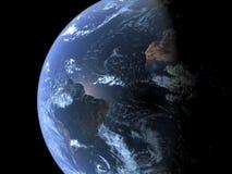 Zuid-Amerika dat van ruimte wordt gezien Royalty-vrije Stock Afbeeldingen