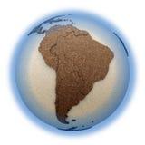 Zuid-Amerika op lichte Aarde Stock Afbeeldingen