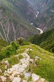 Zuid-Amerika - Peru, Inca-ruïnes van Choquequirao Royalty-vrije Stock Afbeelding