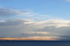 Zuid-Amerika, Titicaca-meer, Bolivië, Isla del Sol-landschap Royalty-vrije Stock Fotografie