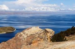 Zuid-Amerika, Titicaca-meerlandschap Royalty-vrije Stock Fotografie