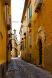 Zuid-Italië, gebied Calabrië, Tropea-stad Stock Afbeeldingen