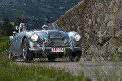 Zuid-Tirol klassieke cars_2014_ Austin HEALEY mk 3 Stock Fotografie