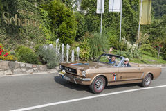 Zuid-Tirol Rallye 2016_ Ford Mustang S Stock Fotografie