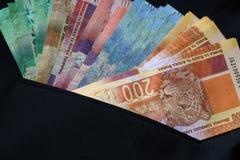 Zuidafrikaans geld stock afbeeldingen