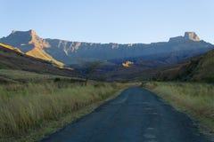 Zuidafrikaans oriëntatiepunt, Amphitheatre van Koninklijke Natal National P Stock Foto's