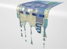 Zuidafrikaans Rand Melting Dripping Banknote stock foto