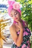 Zuidafrikaans zulu meisje in manierkleren Royalty-vrije Stock Fotografie