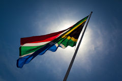 Zuidafrikaanse vlag. Royalty-vrije Stock Foto