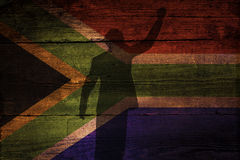 Zuidafrikaanse vlag Stock Fotografie