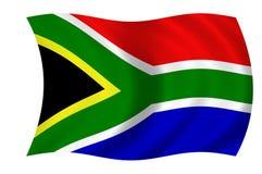Zuidafrikaanse vlag Stock Foto